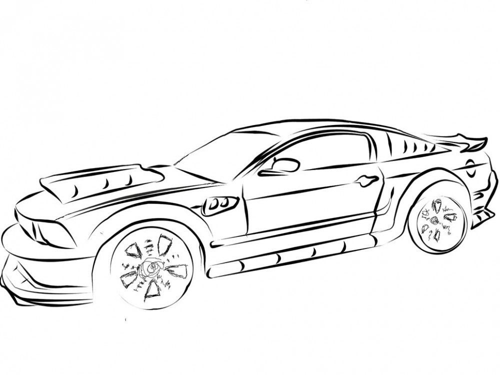 1000x750 Mustang Coloring Pages Awesome Printable Cars