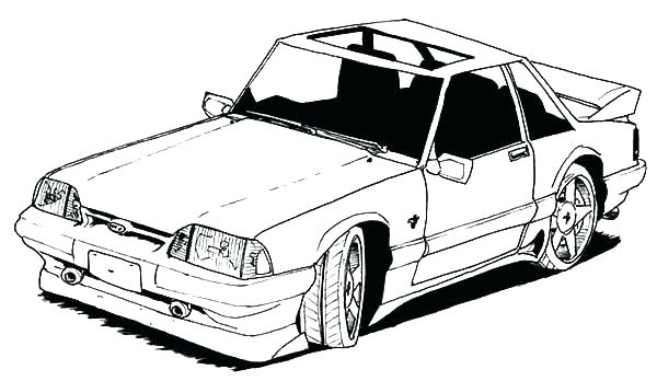 600x348 Mustang Coloring Sheet Drawing Mustang Car Coloring Pages Ford
