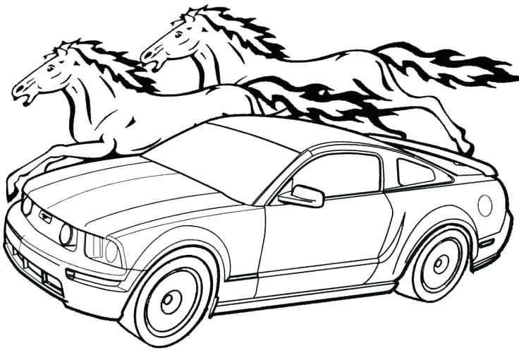 736x500 P Mustang Coloring Page Free Printable Coloring Pages P Mustang