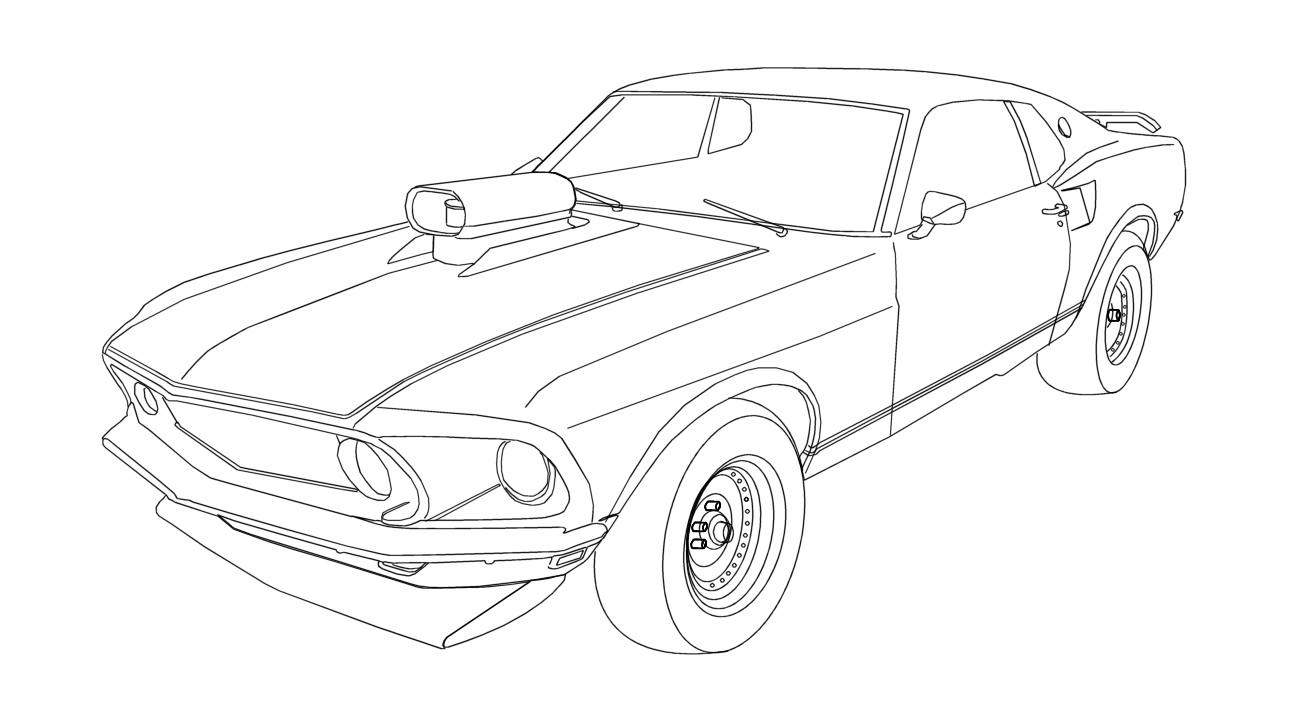 1296x720 Mustang Car Coloring Pages