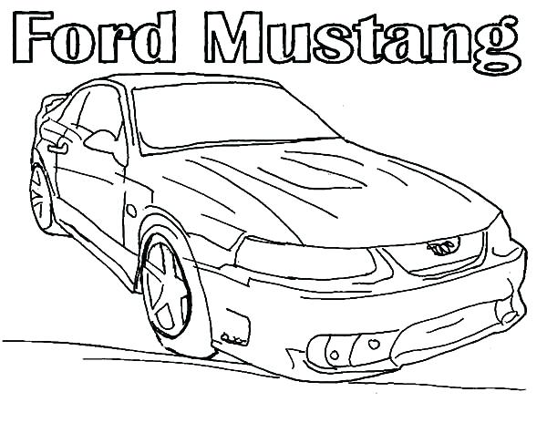 600x464 Mustang Coloring Pictures Mustang Gt Coloring Pages Free Ford