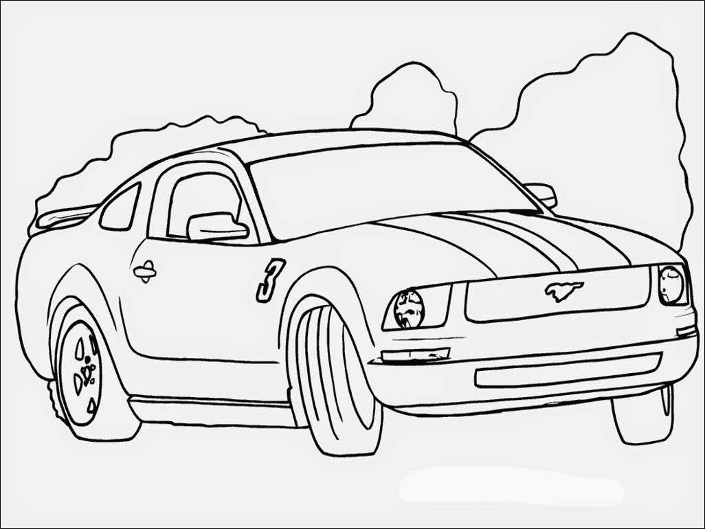 1026x770 Sports Car Ford Mustang Gt Coloring Pages