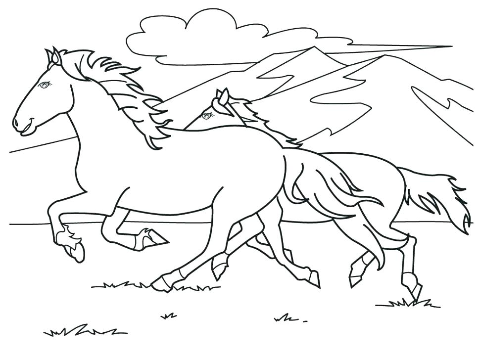 970x728 Horse Coloring Pages Printable Horse Head Pictures To Color Horse