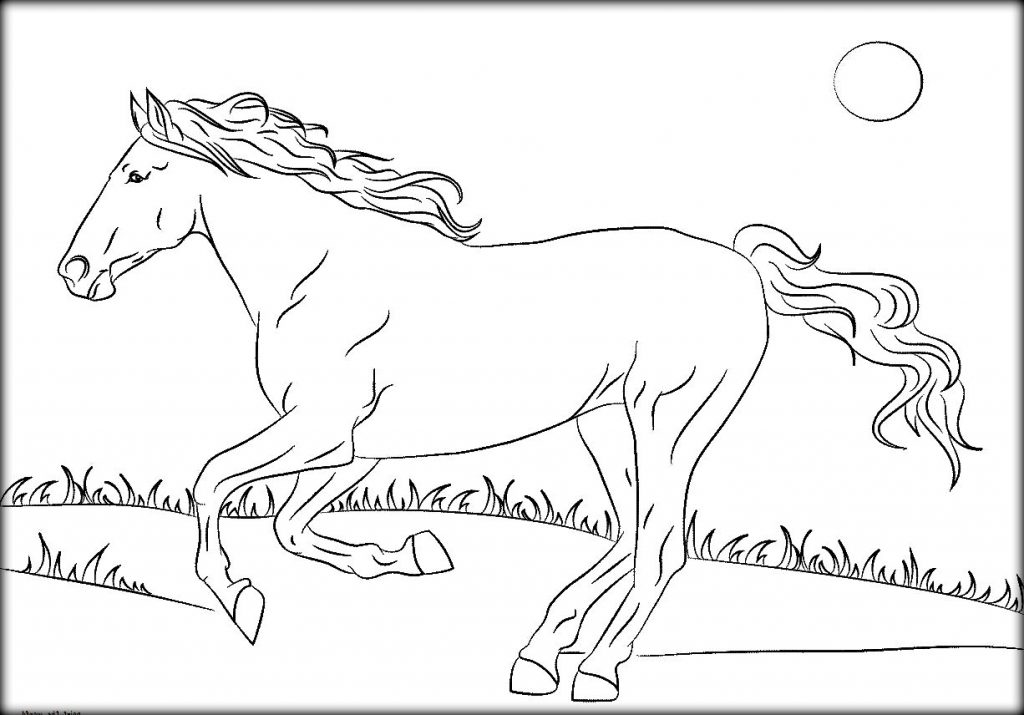 1024x715 Mustang Horse Coloring Pages
