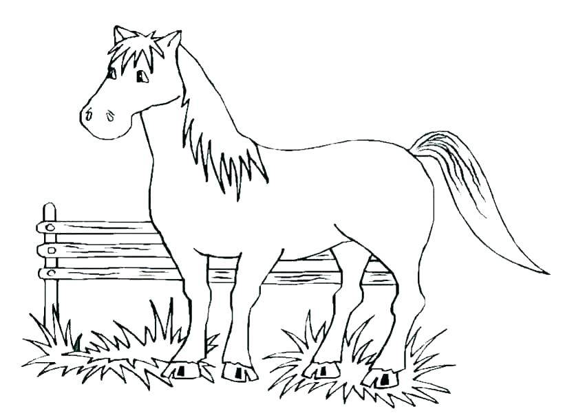 850x601 Mustang Horse Coloring Pages Horse Free Printable Mustang Horse