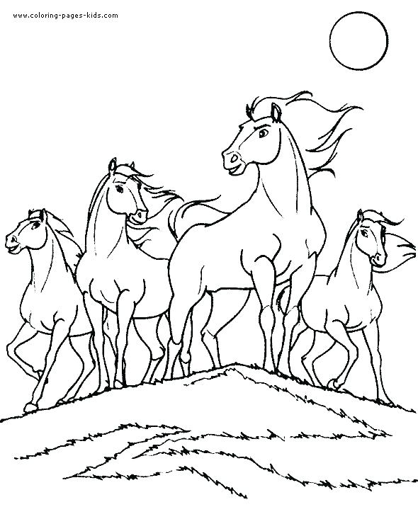 590x733 Mustang Horse Coloring Pages Horse Racing Coloring Pages Mustang