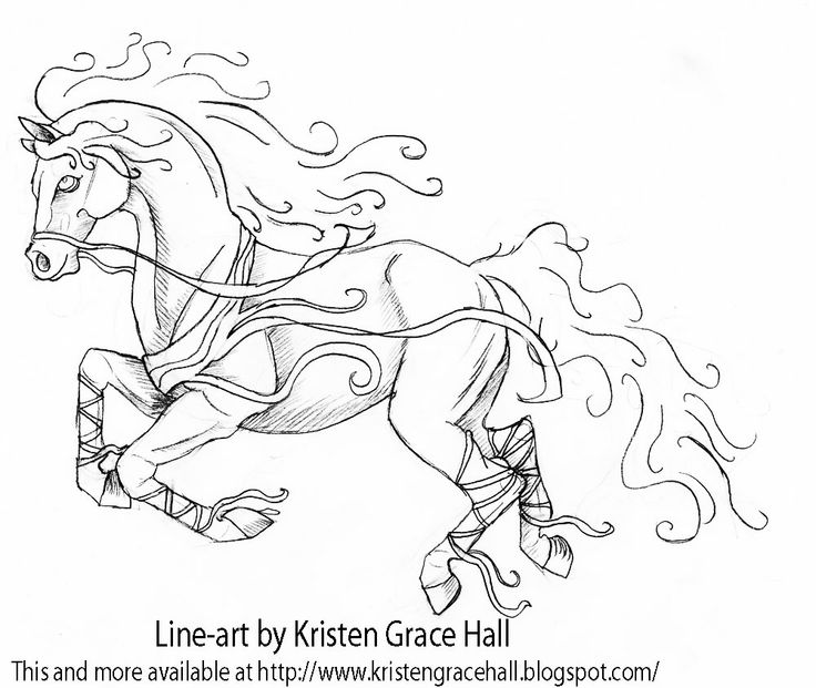 Mustang Horse Coloring Pages Printable