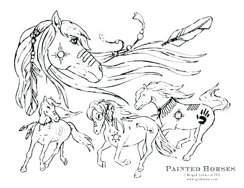 500x386 Mustang Horse Coloring Pages Coloring Pages Horses Paint Horse