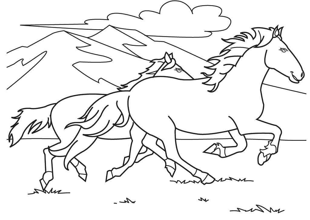 1024x725 Coloring Horse Pages Mustang Horse Coloring Pages Free Online