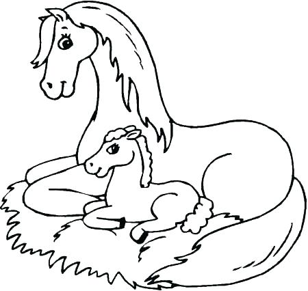 450x426 Coloring Pages Of Horses Printable S Mustang Horse Coloring Pages