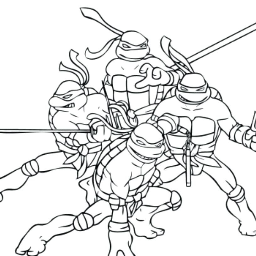 816x816 Ninja Coloring Page Teenage Mutant Ninja Turtles Coloring Pages