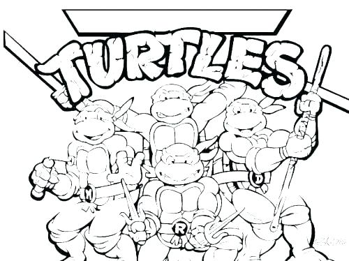 500x374 Printable Turtle Coloring Pages Turtle Coloring Pages Teenage