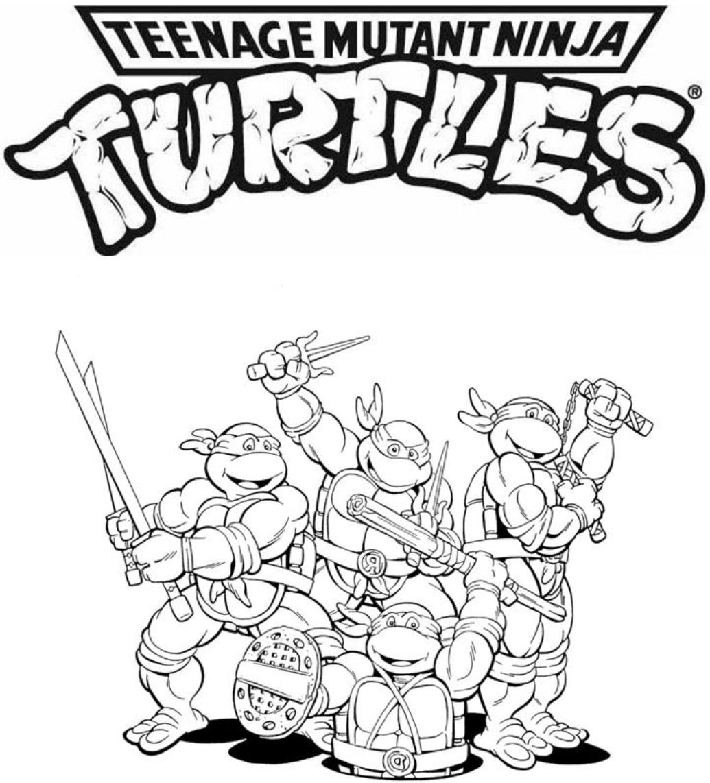 1035x1142 Skill Teenage Mutant Ninja Turtles Coloring Pa