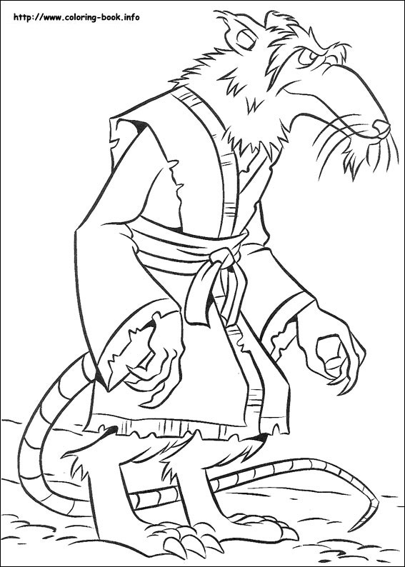 567x794 Teenage Mutant Ninja Turtles Coloring Picture