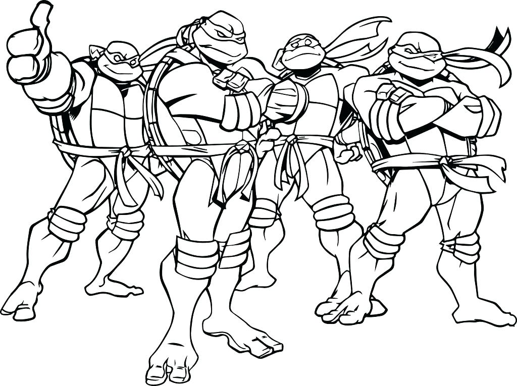 1024x765 Turtle Coloring Pages Ninja Turtle Coloring Page Teenage Mutant