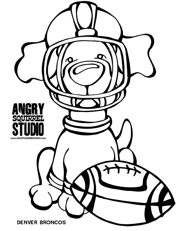 612x792 Are You Ready For Some Football Angry Squirrel Studio