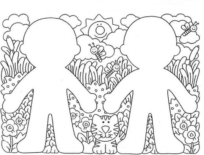 My Body Coloring Pages