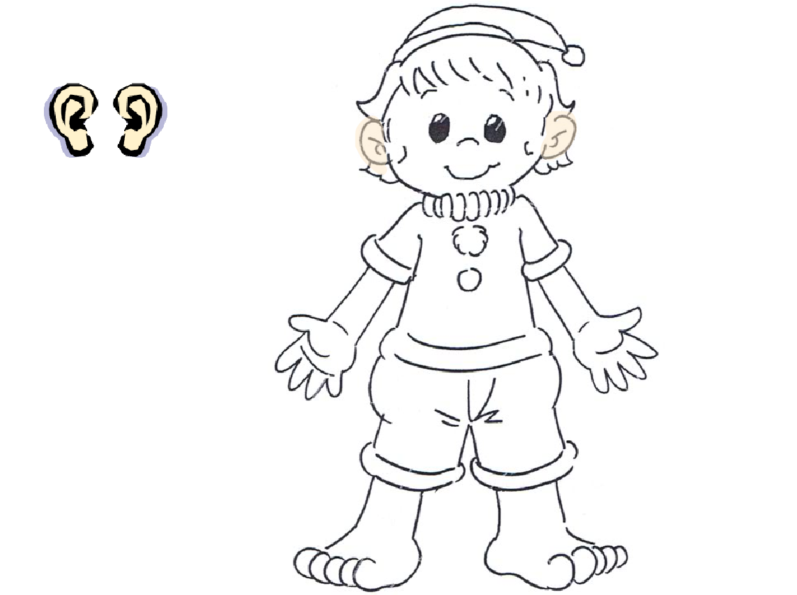 My Body Coloring Pages Preschool