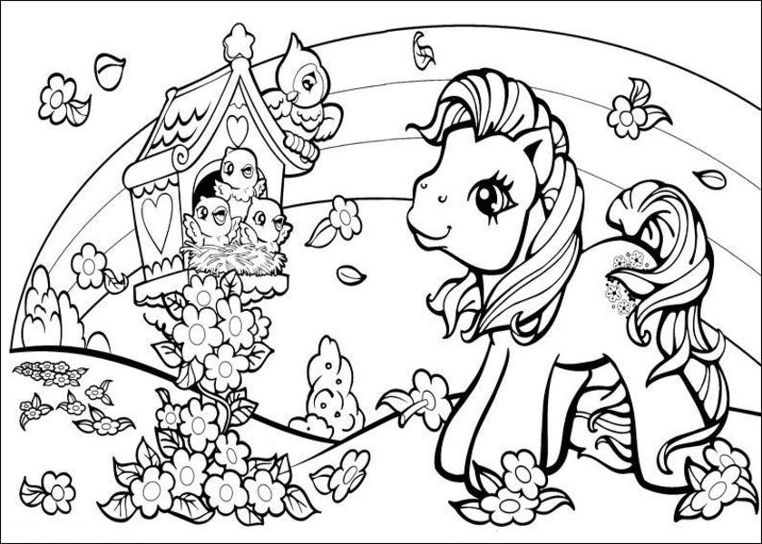 840x600 My Coloring Pages Coloring Pages My Little Pony Many Interesting