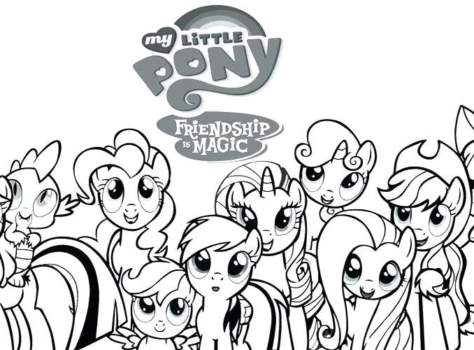 678x500 My Colouring Pages Awesome Coloring Pages My Little Pony