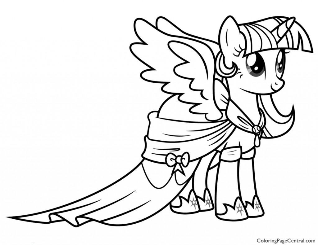 1024x791 My Little Pony Princess Twilight Sparkle Coloring Page