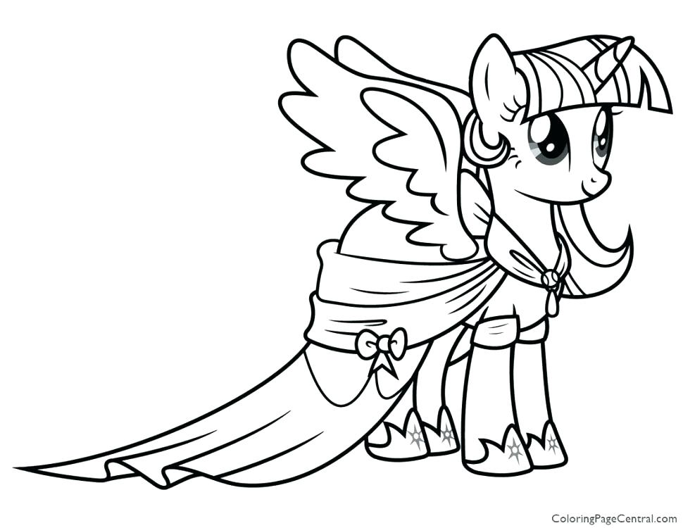 970x750 Pony Coloring Pages Coloring Pages Twilight Sparkle Large Size