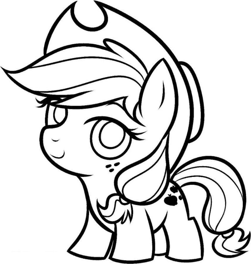 803x846 Pony Pictures To Color Free Printable My Little Pony Coloring