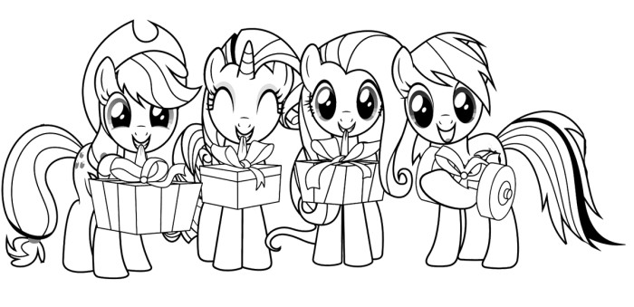 700x339 My Little Pony Happy Birthday Coloring Page Top