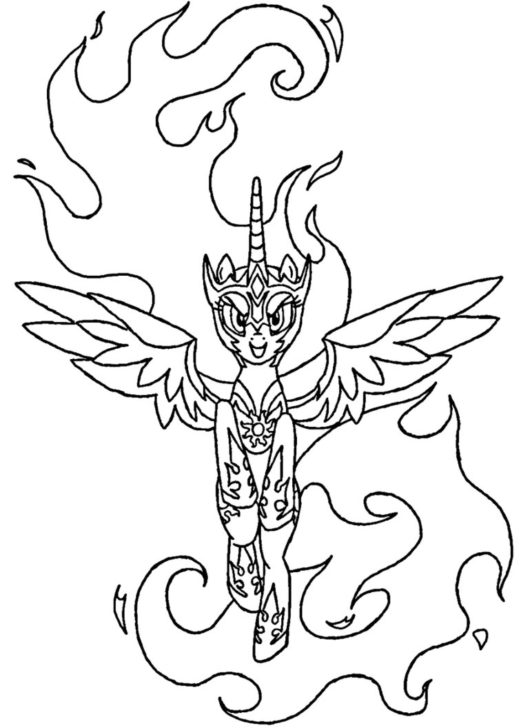My Little Pony Celestia Coloring Pages At Getdrawings Free Download
