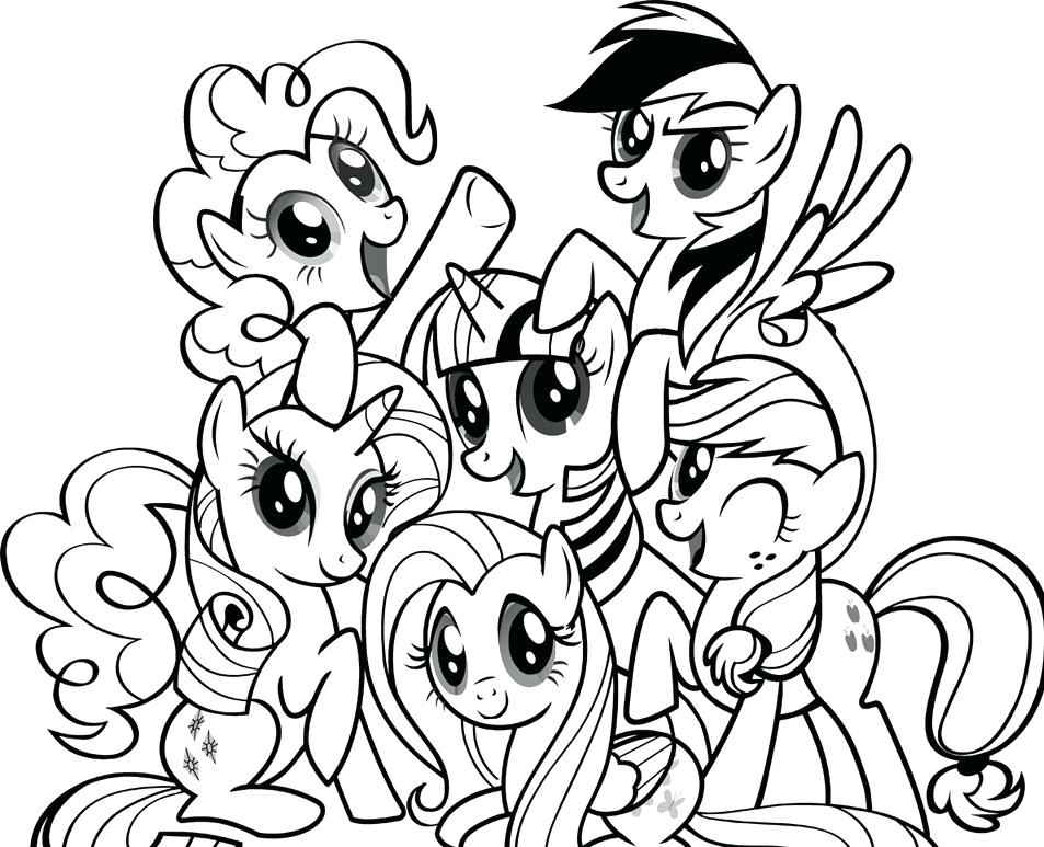 My Little Pony Characters Coloring Pages At Getdrawingscom Free