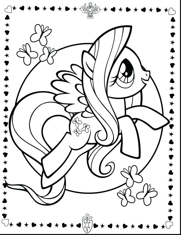 618x800 Little Pony Friendship Is Magic Coloring Pages Online Terrific My