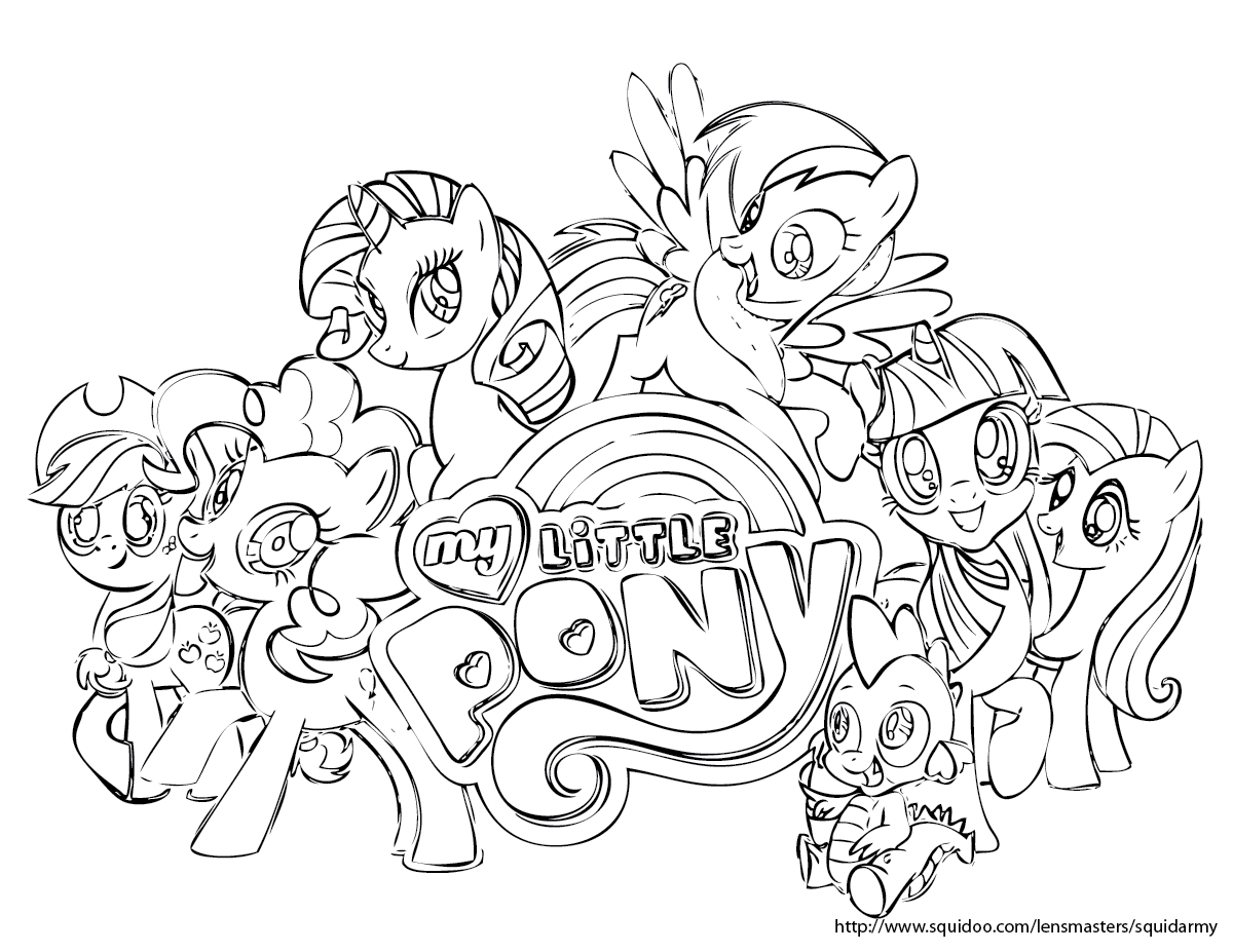 1200x927 My Little Pony Coloring Pages Online Co