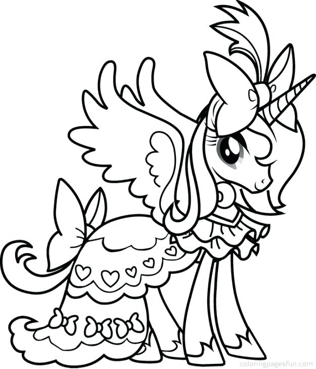 625x730 Pony Color Pages Princess Cadence From My Little Pony Coloring
