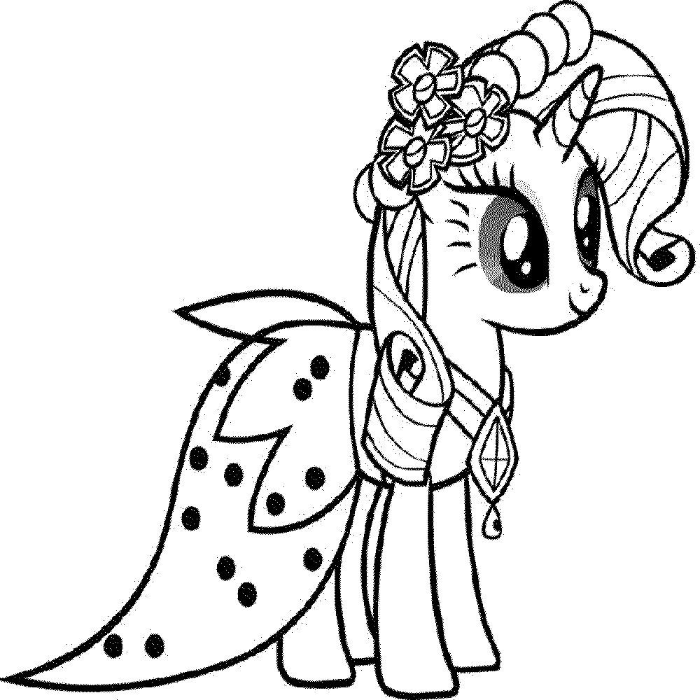 1000x1000 Complicolor My Little Pony Coloring Page Printable Pages