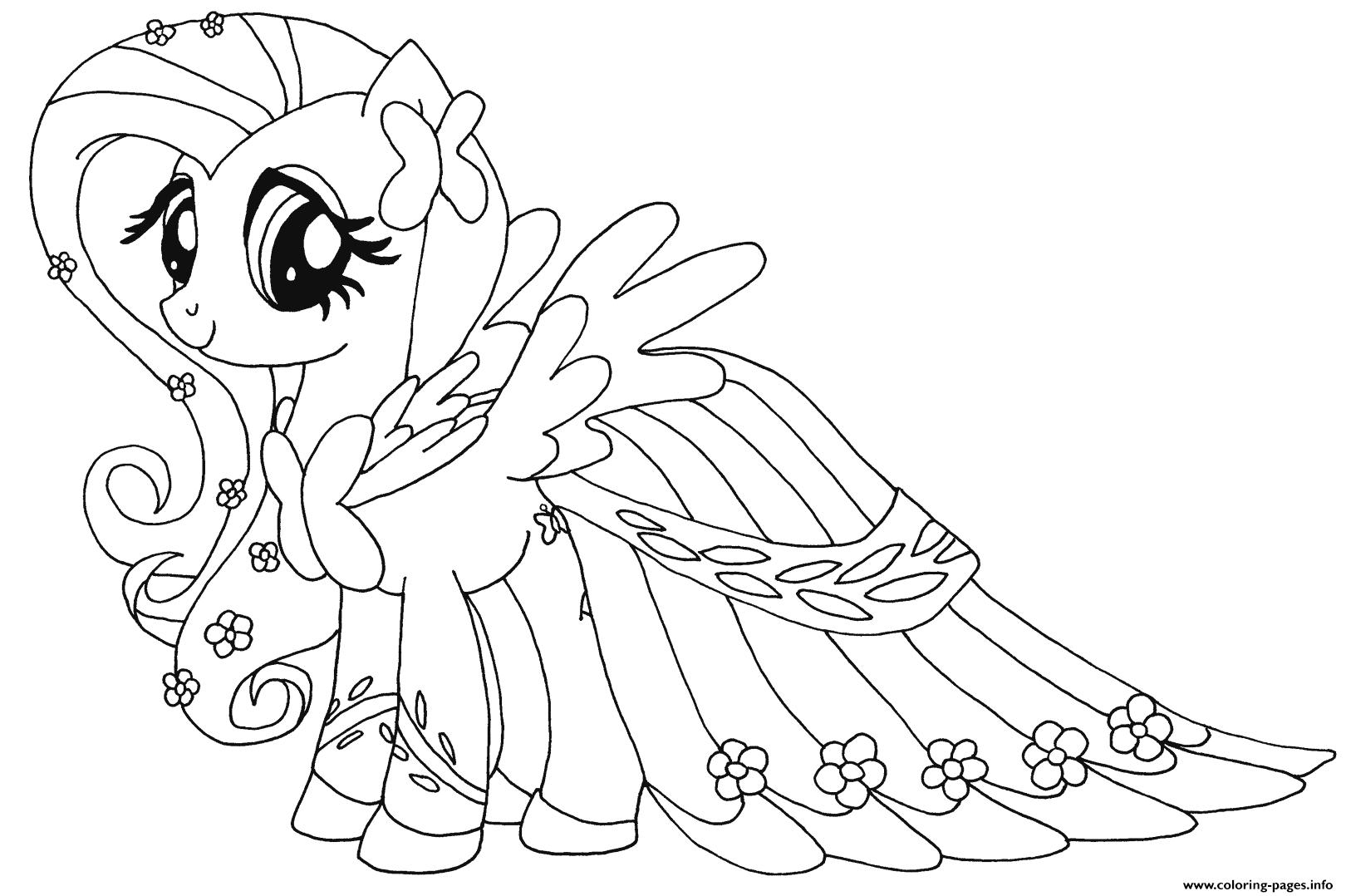 My Little Pony Coloring Pages Pdf At Getdrawings Free Download