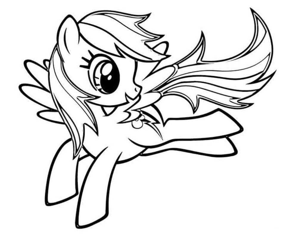 1024x791 My Little Pony Coloring Pages Rainbow Dash For Kids Pinkie Pie