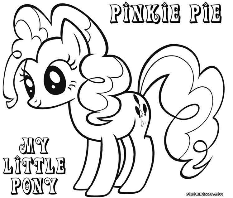 748x635 Pinkie Pie Coloring Page My Little Pony Coloring Pages Pinkie Pie
