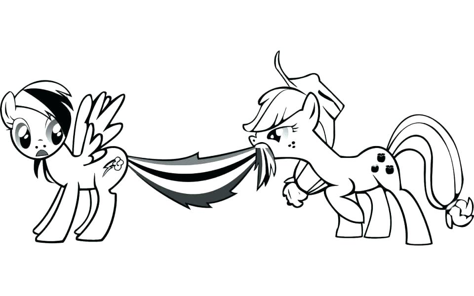 960x600 My Little Pony Baby Rainbow Dash Coloring Pages Free All Ideas