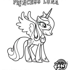 My Little Pony Coloring Pages Princess Luna At Getdrawings Com
