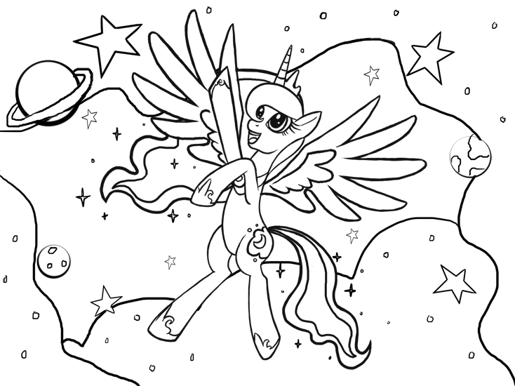 My Little Pony Coloring Pages Princess Luna At Getdrawingscom