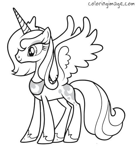 My Little Pony Coloring Pages Princess Luna Filly At Getdrawings