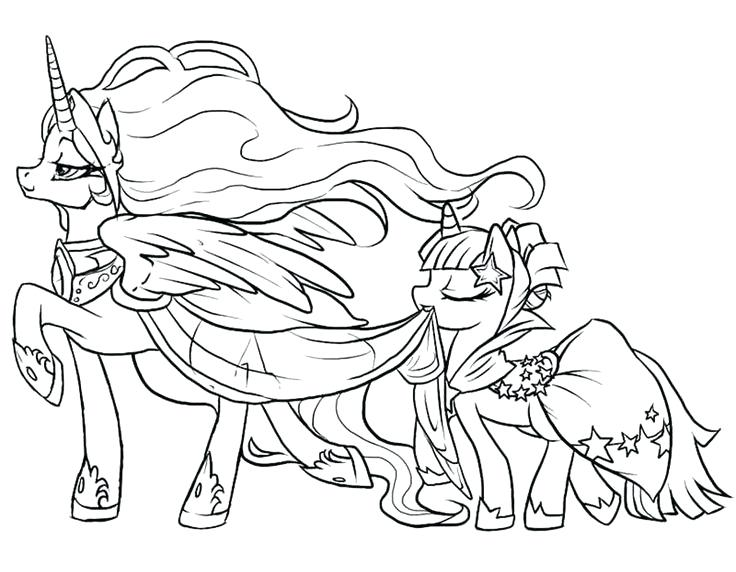 736x572 My Little Pony Coloring Pages Princess Celestia My Little Pony