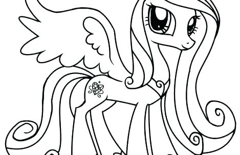 My Little Pony Coloring Pages Princess Luna Filly At Getdrawings Com