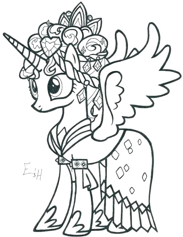 618x802 Princess Luna Coloring Page Free Printable My Little Pony Coloring