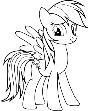 My Little Pony Coloring Pages Rainbow Dash At Getdrawings Com Free