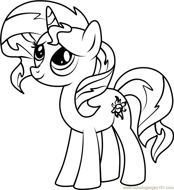735x800 My Little Pony Coloring Pages Sunset Shimmer