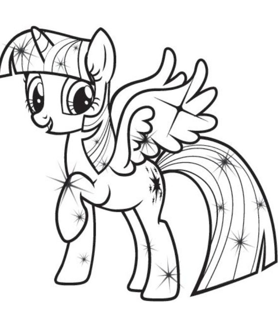 My Little Pony Coloring Pages Twilight Sparkle And Friends At