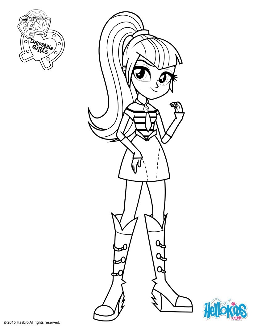 My Little Pony Equestria Girl Coloring Pages To Print At