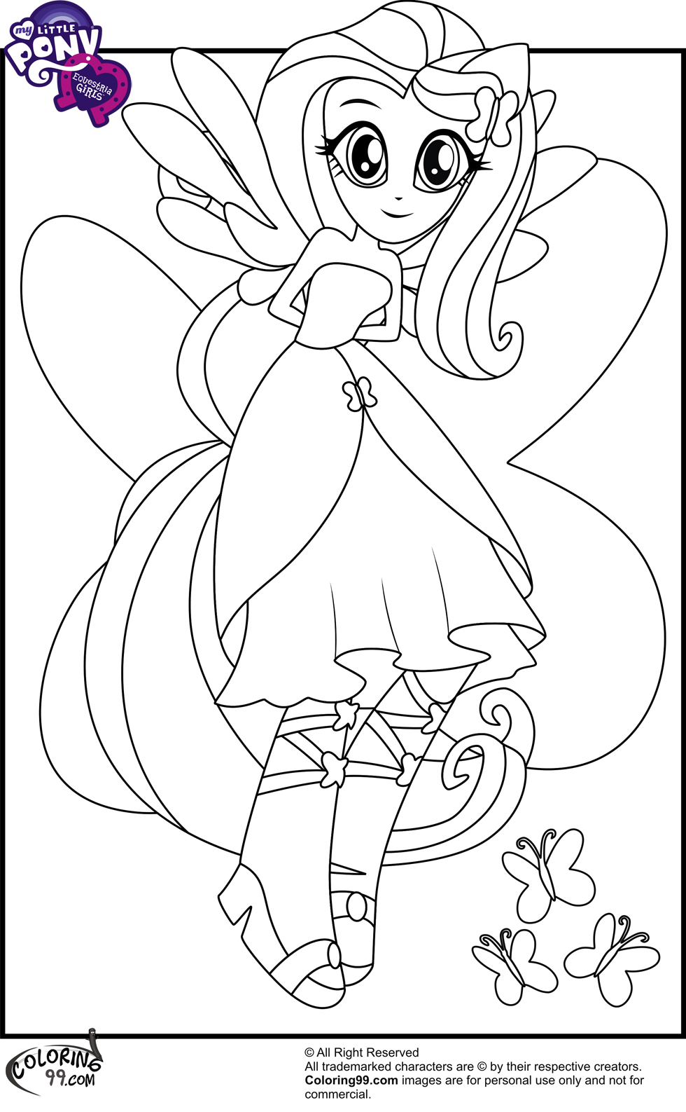 My Little Pony Equestria Girl Coloring Pages To Print At Getdrawings