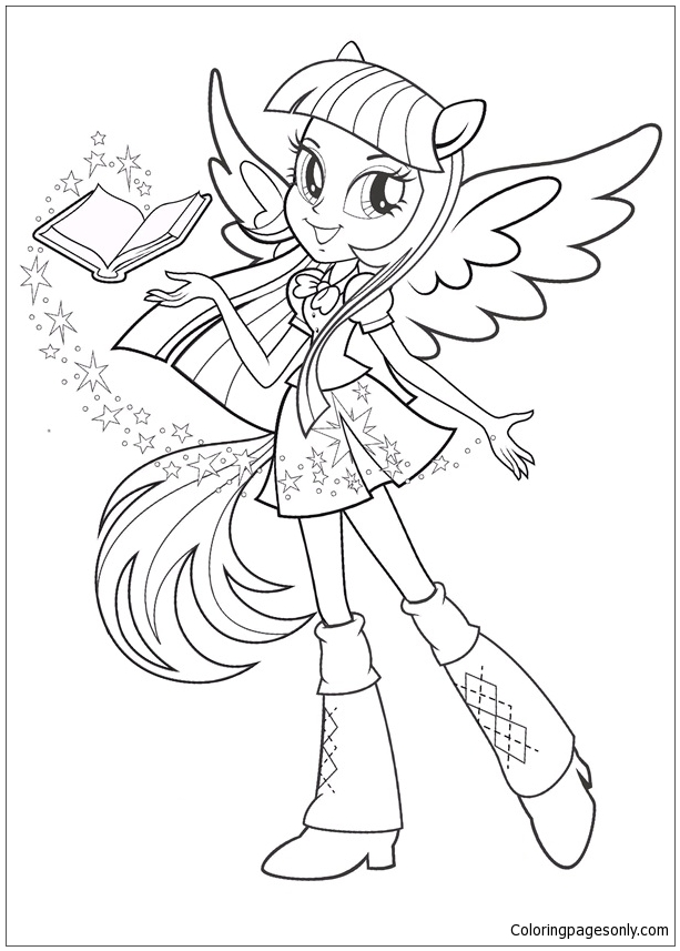 613x857 My Little Pony Equestria Girls Coloring Page